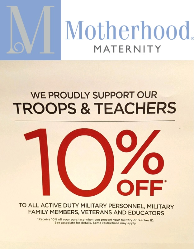10% Off* to ALL Active Duty Military Personnel, Military Family Members, Veterans and Educators