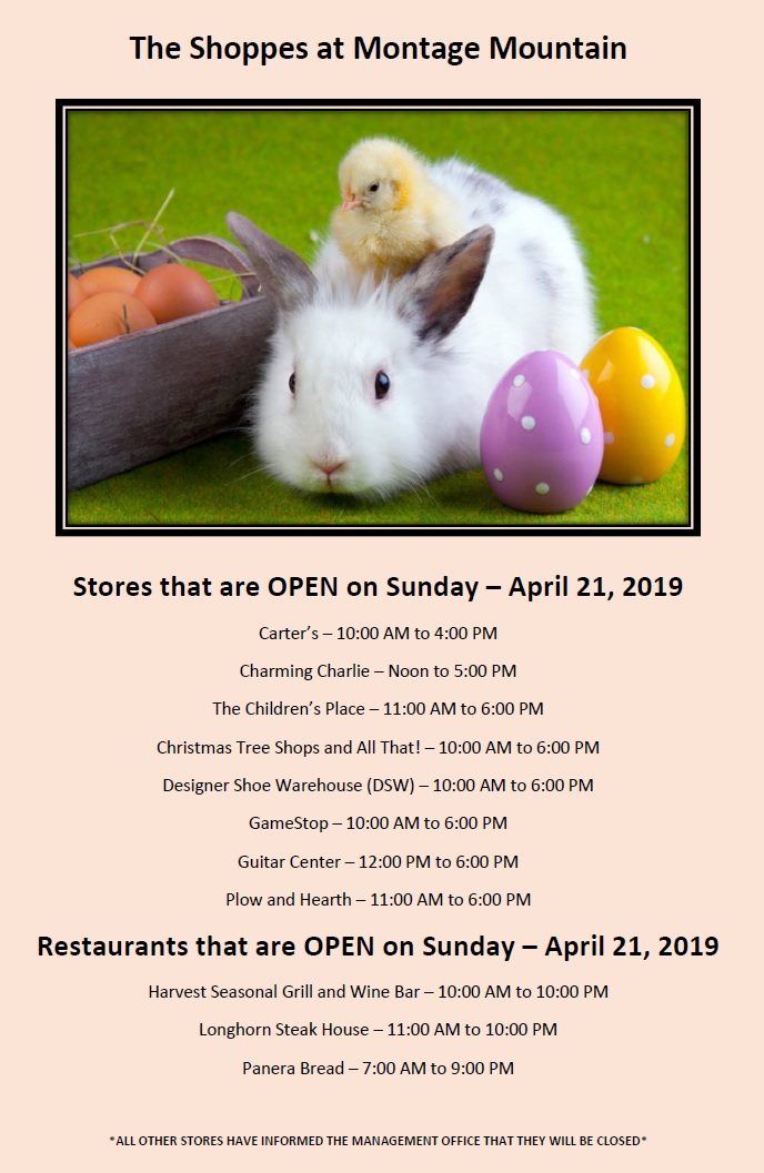 Happy Easter From The Shoppes At Montage Mountain The Shoppes At