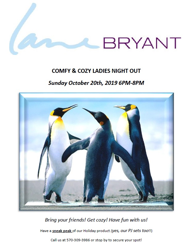 Comfy & Cozy Ladies Night Out